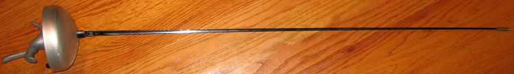 An electric epee with a pistol grip Epee complete.png