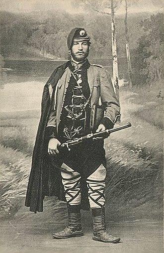 """Đorđe Skopljanče - """"Vojvoda Đorđe Ristić Skopljanče"""", postcard"""