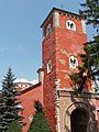 Žiča Monastery church tower, with damages after 2010 Kraljevo earthquake. Near Kraljevo, Serbia.JPG