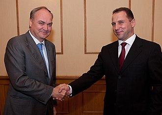 David Tonoyan - Tonoyan with Anatoly Antonov in 2012.