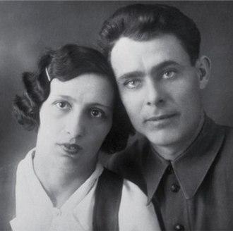 Leonid Brezhnev - Young Brezhnev with his wife Viktoria