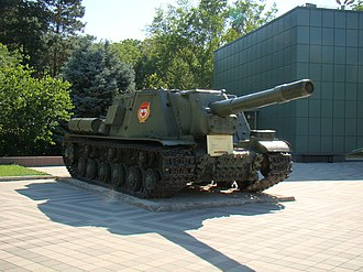 Self-propelled gun - World War II Soviet ISU-152.