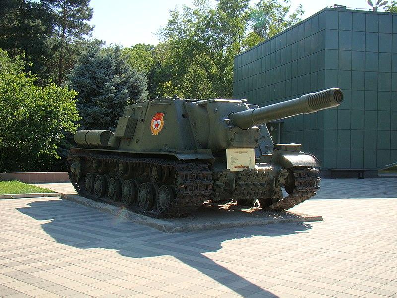 ISU-152 at the Museum of military equipment at Victory park, Krasnodar