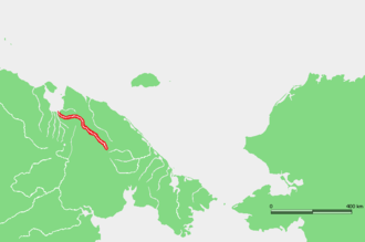Palyavaam River - Location of the Palyavaam River course.