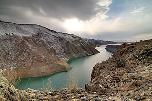 Azat River - The Azat River feeding into the Azat Reservoir