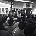 ביום העלייה על אדמת כפר קיש (מושב שיתופי לחיילים משוחררים) - שיך ערבי מברך את המתיישבים החדשים-JNF010348.jpeg