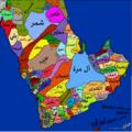 خريطة قبائل منطقة شبة الجزيرة العربية.png