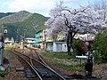 桜が咲いている神海駅 - panoramio.jpg