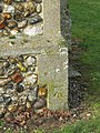 -2019-01-25 Benchmark, North east corner of Saints Peter and Paul, Edgefield, Norfolk (2).JPG
