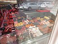 -2019-09-19 Meat couter display, Coxfords Butchers, Market Place, Aylsham.JPG