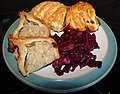 -2020-12-27 Sauasge rolls, pork pie and pickled red cabbage, Trimingham (2).JPG