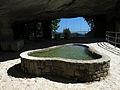 085 Sant Miquel del Fai, bassa sota la balma, vora l'estany.JPG
