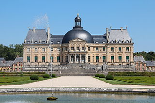 Nicolas Fouquet castle at Vaux-le-Vicomte
