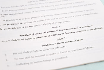 Article 4 of the Charter of Fundamental Rights of the European Union prohibits torture.