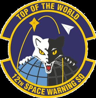 12th Space Warning Squadron - 12th Space Warning Squadron emblem