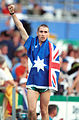 141100 - Athletics track Tim Sullivan waves - 3b - 2000 Sydney race photo.jpg