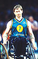 141100 - Wheelchair basketball Sandy Blythe disappointed - 3b - 2000 Sydney match photo.jpg