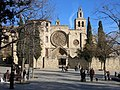 151 Monestir de Sant Cugat, façana oest, pl. Octavià.JPG