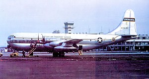 1700th Air Transport Group - 1700th Air Transport Group Boeing KC-97G-26-BO Stratofreighter 52-2693, Kelly AFB, Texas 1952. Aircraft is shown modified as YC-97J, flying test bed for Pratt and Whitney YT34-P-5 turboprops. Retired to MASDC as CH0626 Aug 3, 1964.