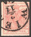 1850 Stamp Austria-Hungary 0003, Vienna, 2 November.jpg