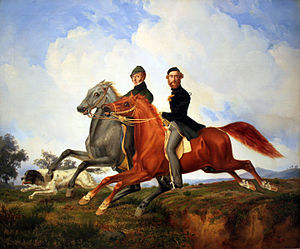 Franz Krüger - Two riders galloping, 1851, Germanisches Nationalmuseum