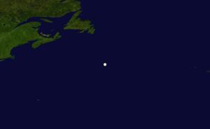 1860 Atlantic hurricane season - Image: 1860 Atlantic hurricane 3 track