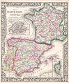 1864 Mitchell Map of France, Spain and Portugal - Geographicus - SpainFrance-mitchell-1864.jpg
