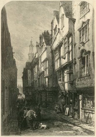 Jack Sheppard - An engraving of Wych Street, from about 1870