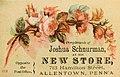 1882 - Joshua Schnurmans Store 4 - Trade Card - Allentown PA.jpg