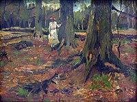1882 van Gogh Girl in a Wood anagoria.JPG