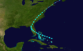 1888 Atlantic tropical storm 5 track.png