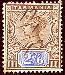 1892 2s6d Tasmania pen Yv55 SG222.jpg