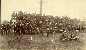 Stetson Hatters football - The stands during 1894.