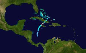 1904 Atlantic hurricane season - Image: 1904 Atlantic hurricane 1 track