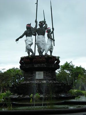 Puputan - Monument to the 1906 Puputan, located in Taman Puputan, Denpasar, Bali.