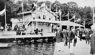 Rowing at the 1912 Summer Olympics - The Stockholm rowing club's boat house.