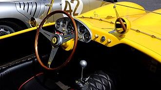 Ferrari 250 Testa Rossa - Interior of 1958 250 TR.