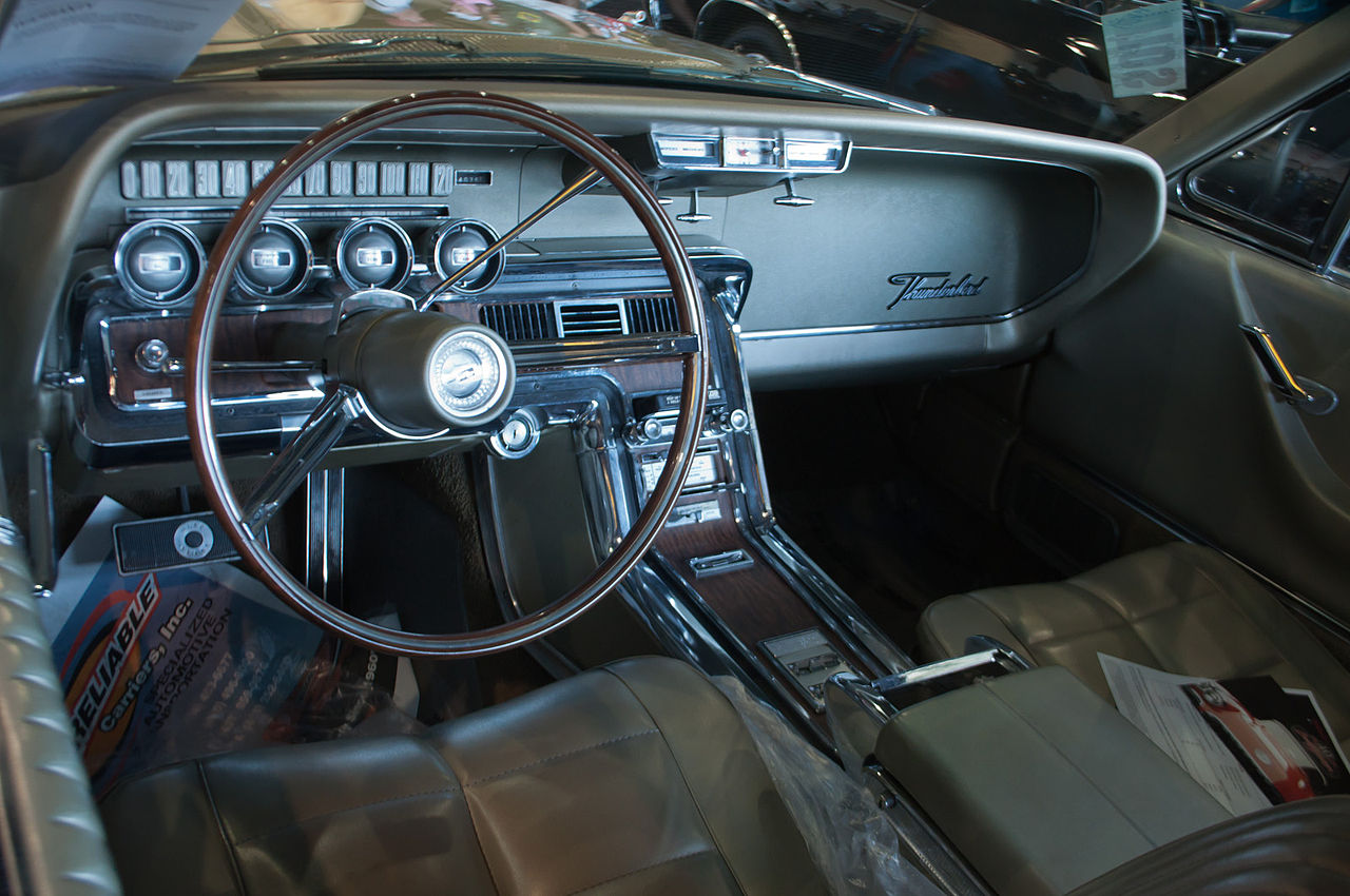 Ford And Ford Auction >> File:1966 Ford Thunderbird interior - Flickr - skinnylawyer.jpg - Wikimedia Commons