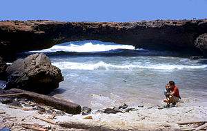 Aruba - Natural bridge in Aruba (collapsed 2 September 2005)