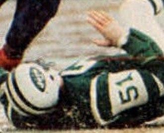 Ralph Baker (linebacker) - Baker playing for the Jets in 1973