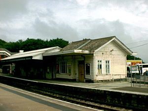St Austell railway station - The old station building demolished in 1999 contained parts built in 1859 and 1882