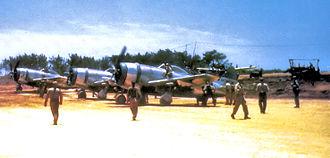 19th Fighter Squadron - 19th Fighter Squadron P-47N Thunderbolt, Ie Shima Airfield, 1945