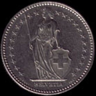 Franc - 1 Swiss franc 1983 obverse