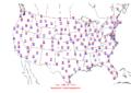2005-06-21 Max-min Temperature Map NOAA.png