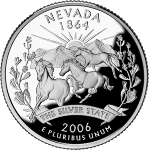 Sheldon National Wildlife Refuge -  Nevada mustang featured on state quarter