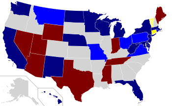 2006 Senate election results map