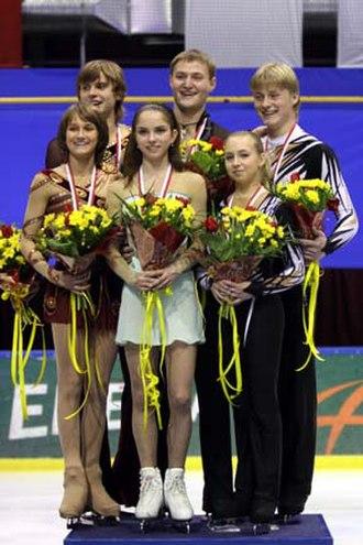 2007–08 ISU Junior Grand Prix - The pairs' podium at the Final