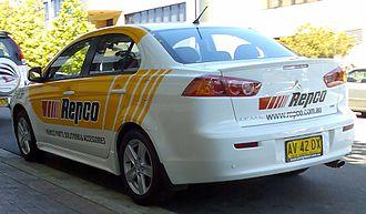 """Repco - """"Repco"""" Mitsubishi Lancer company car."""