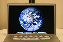 2010-01-21 MacBook Pro Mac OS X Snow Leopard with Earth background.jpg