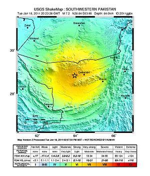 2011 Dalbandin earthquake - Image: 2011 Pakistan earthquake